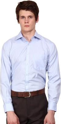 I-Voc Men's Solid Formal Light Blue Shirt