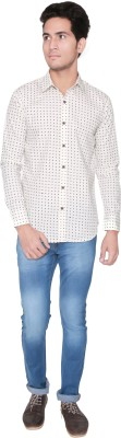 Shreebalajitraders Men's Printed Casual Yellow Shirt