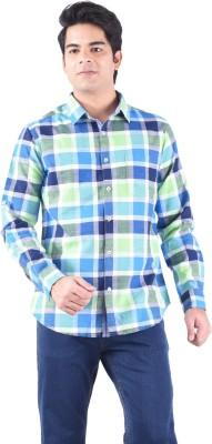 Passport Men's Checkered Casual Green Shirt
