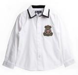 XnY Boys Solid Party White, Black Shirt