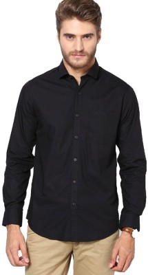 Gayo Fashion Men's Solid Casual Black Shirt