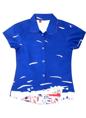 Desire Girl,s Printed Casual Blue Shirt