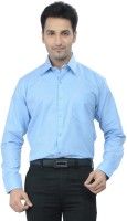 Gold Coin Formal Shirts (Men's) - Gold Coin Men's Solid Formal Blue Shirt