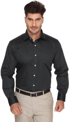 Blacksmith Men's Solid Formal Grey Shirt