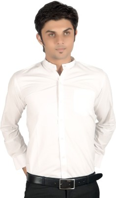 Proactive Men's Solid Formal White Shirt