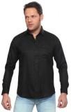Shivam Garments Men's Solid Casual Black...