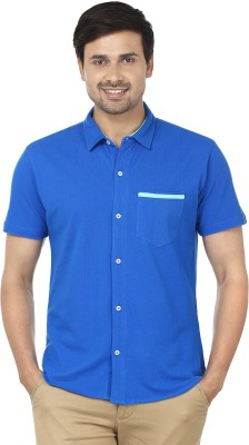 Ruse Men's Solid Casual Blue Shirt