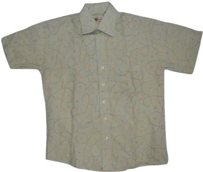 Lard Boy's Striped Casual Yellow Shirt