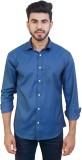 Solzo Men's Solid Casual Blue Shirt