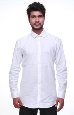 leports Men,s, Boy's Solid Formal Linen White Shirt