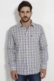 SIN Men's Checkered Casual Blue Shirt