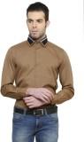 Richard Cole Men's Solid Formal Brown Sh...
