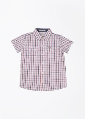 Pepe Jeans Boy's Checkered Casual White, Blue, Orange Shirt