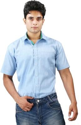 Relish Men's Solid Formal Light Blue, Green Shirt