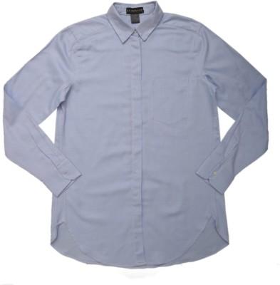 Lovane Men's Striped Formal Blue Shirt