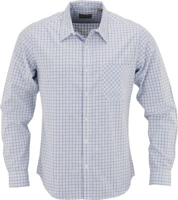 Aady Jones Men,s Checkered Formal Blue Shirt