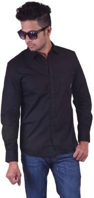 Jansons Men's Solid Casual Black Shirt