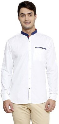 Smile By Nature Men's Solid Casual White Shirt