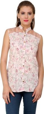 Pankhuri For Women Women,s Floral Print Casual Pink Shirt