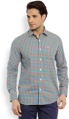 Color Plus Men's Checkered Casual Brown Shirt