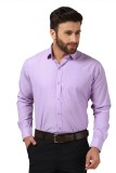 Mesh Men's Solid Formal Purple Shirt