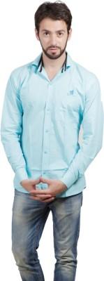 FDS Men's Solid Formal Light Blue Shirt
