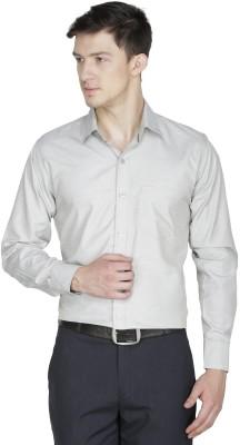 Asher Men's Solid Formal Green Shirt
