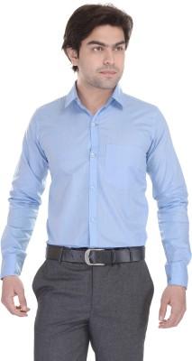 Lee Mark Men's Solid Formal Light Blue Shirt
