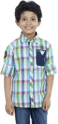 OKS Boys Boy's Checkered Casual Multicolor Shirt