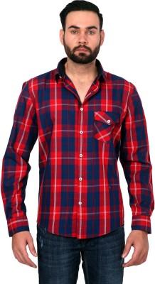 Urban Republic Men's Checkered Casual Red, Blue Shirt