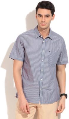 Quiksilver Men's Striped Casual Light Blue Shirt