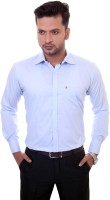 1almighty Formal Shirts (Men's) - 1Almighty Men's Solid Formal Blue, Light Blue Shirt