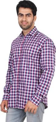 Rollinia Men,s Checkered Casual Blue Shirt