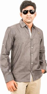 Argyle Men's Solid Casual Grey Shirt