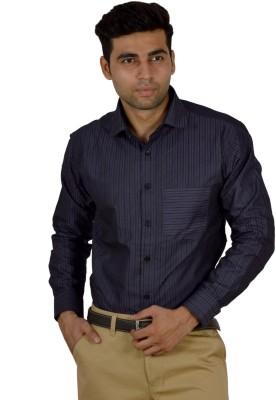 Studio Nexx Men's Striped Formal Purple Shirt