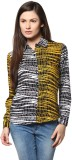 Abiti Bella Women's Printed Casual Yello...