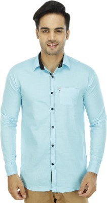 BLUE OCEAN Men's Solid Casual Light Blue, Light Blue Shirt