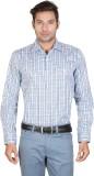 Don Vino Men's Checkered Casual Blue, Wh...