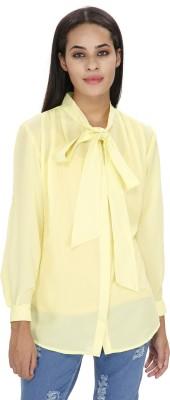 Ragdoll Women's Solid Casual Yellow Shirt