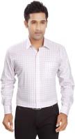 Boonplush Formal Shirts (Men's) - Boonplush Men's Checkered Formal Pink Shirt