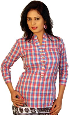 Feminine Women's Printed Casual Multicolor Shirt