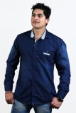 Vigroll Shirts Men's Solid Casual Blue S...