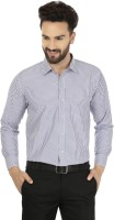 Jainish Formal Shirts (Men's) - Jainish Men's Striped Formal Blue Shirt