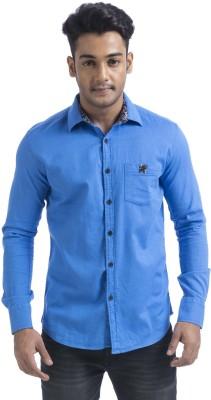 Swathe Men's Solid Casual Blue Shirt