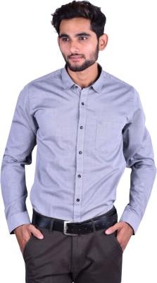 Cortos Men's Solid Formal Grey Shirt