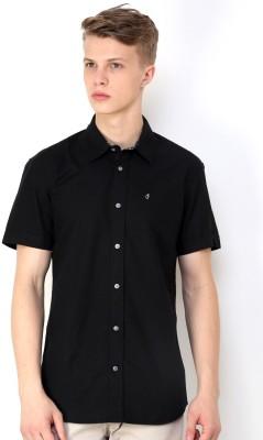 CHRISTIAN FABRE Men's Solid Casual Black Shirt