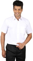 Leigh Gordon Formal Shirts (Men's) - Leigh Gordon Men's Solid Formal White Shirt