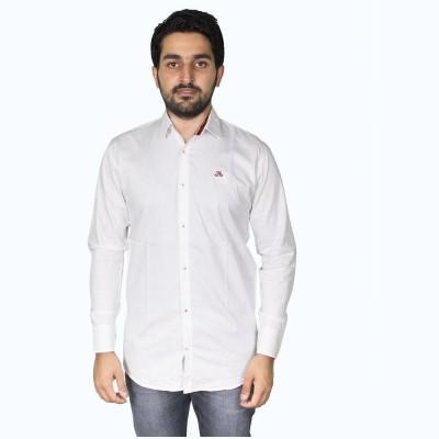 Mangue Men's Solid Casual White Shirt