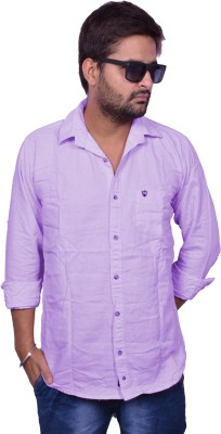 Nation Polo Club Men's Solid Casual Purple Shirt