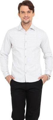 Western Vivid Men's Printed Casual White Shirt